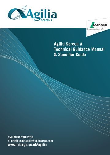 Agilia Screed A Technical Guidance Manual ... - Liquid Screed Ltd