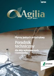 Poradnik Techniczny Agilia Sols A - Lafarge