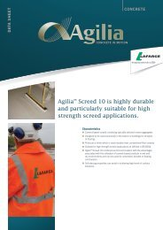 Agilia™ Screed 10 is highly durable and ... - Lafarge Cement