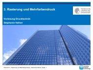 Vorlesung Drucktechnik - IDD - Technische Universität Darmstadt