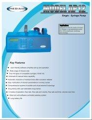 Model AP12 Single-Syringe Pump Brochure - English ... - Mediaid Inc