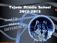 Tejeda Middle School 2012-2013