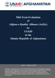 Mid-Term Evaluation of Afghan e-Quality Alliance (AeQA) by USAID ...