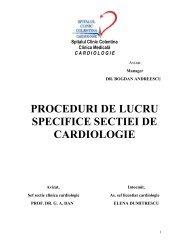 toate procedurile cardiologice - Spitalul Clinic Colentina