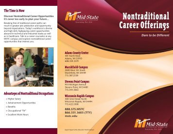 Nontraditional Career Offerings - Wisconsin Technical College System