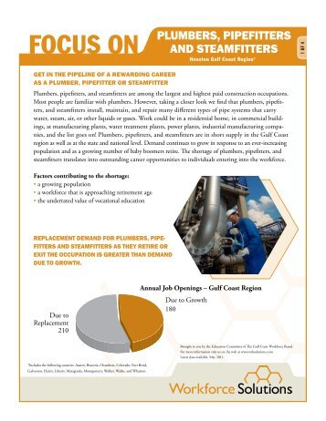 Plumbers, Pipefitters, And Steamfitters   Workforce Solutions