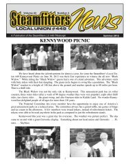 to view the Summer 2012 Newsletter - Steamfitters UA Local 449