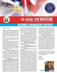 UA LOCAL 598 NEWSLINE - Local Union 598
