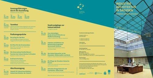 """Flyer """"Industriearchitektur in Sachsen"""" - Deutscher Werkbund"""