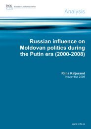 Russian influence on Moldovan politics during the Putin era
