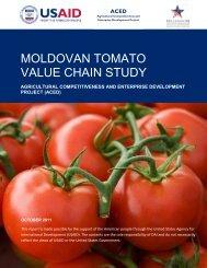 MOLDOVAN TOMATO VALUE CHAIN STUDY