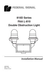 810D Series FAA L-810 Double Obstruction Light - Galco Industrial ...