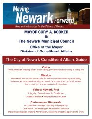 Constituent Services Guide - The City Of Newark, New Jersey