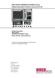 EMCO WinNC SINUMERIK 810D/840D Turning Software ...