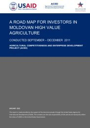 a road map for investors in moldovan high value agriculture