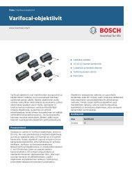 Varifocal-objektiivit - Bosch Security Systems