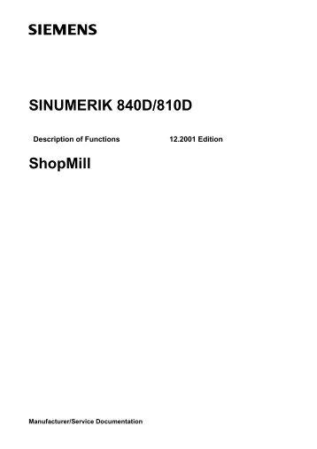SINUMERIK 840D/810D ShopMill