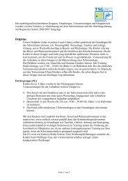 F?r weitere Informationen zu unseren Gruppen, Einteilungen ...