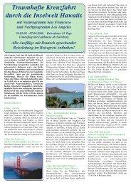 Traumhafte Kreuzfahrt durch die Inselwelt Hawaiis - Reisebüro - Brück