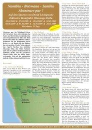Namibia - Botswana - Sambia Abenteuer pur ! - Reisebüro - Brück