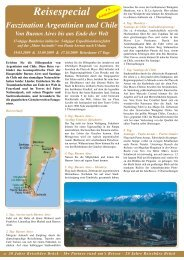 Reisespecial Faszination Argentinien und Chile ... - Reisebüro - Brück