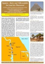 Ägypten - Kairo und Nilkreuzfahrt Im Land der ... - Reisebüro - Brück