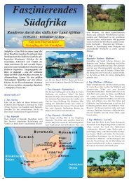 Faszinierendes Südafrika Rundreise durch das südlichste Land ...