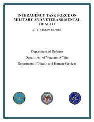 INTERAGENCY TASK FORCE ON MILITARY AND VETERANS MENTAL HEALTH