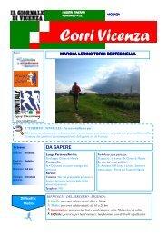Corri Vicenza Percorso N.11 - Marola Lerino Torri Bertesinella