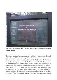 Escursione sul Monte Mario - Monterotondo
