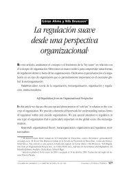 La Regulación suave desde una perspectiva organizacional