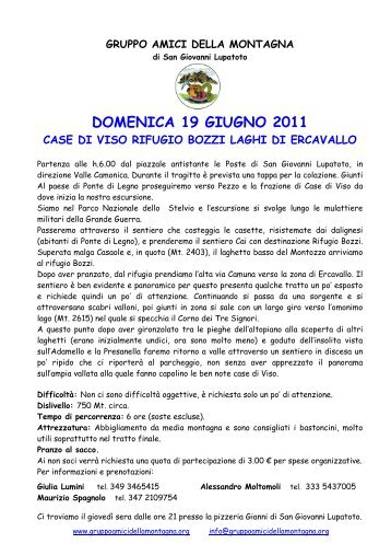 apri l'originale in PDF - Gruppo Amici della Montagna di San ...