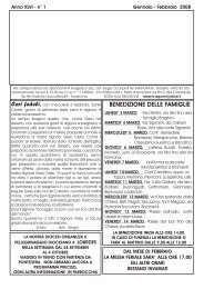 N° 1 Gennaio/Febbraio 2008 - Parrocchie di Orentano