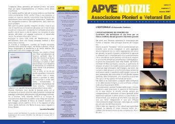 ApveNotizie Marzo 2007 - associazione pionieri e veterani eni