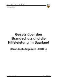 Gesetz über den Brandschutz und die Hilfeleistung im Saarland