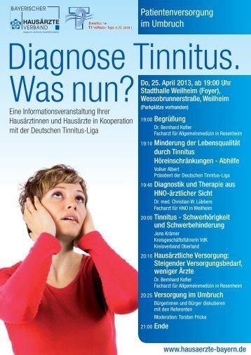 Patientenversorgung im Umbruch - Deutsche Tinnitus Liga eV