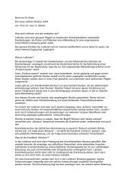Nicht nur für Ärzte: Die neue Leitlinie Hörsturz 2004 von Prof. Dr ...