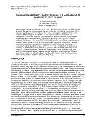 BYRAM VERSUS BENNETT: DISCREPANCIES IN THE ... - CERCLL