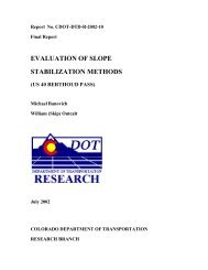 Final Report Slope Stabilization 2002-101 - Colorado Department of ...