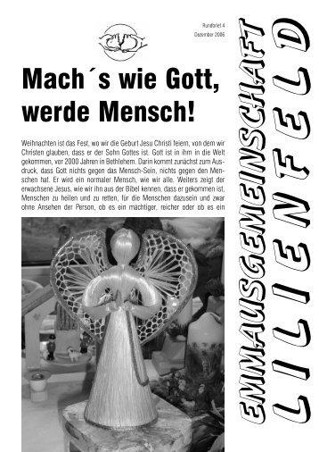 Rundbrief 4/2006 - Emmaus Lilienfeld