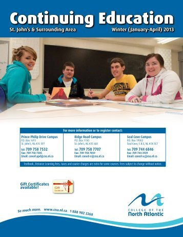 Continuing Education - College of the North Atlantic
