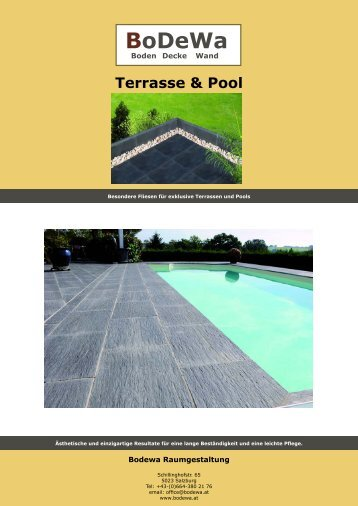 Terrassenplatten & Poolumrandungen - Bodewa