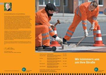 Straßenerhaltung: Uebersicht und Ansprechpartner (pdf, 469 kB)