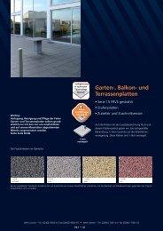 Garten , Balkon und Terrassenplatten
