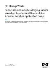 Fabric interoperability: Merging fabrics based on C-series and ... - HP