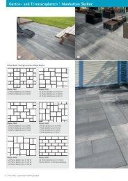 Garten- und Terrassenplatten | Manhattan Skyline - Flora Trend