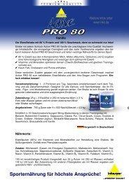 Produktinfos inkospor® Active PRO 80® Vanille