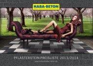 Pflasterstein-Preisliste 2013/2014 - HABA Pflastersteine