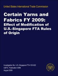 Certain Yarns and Fabrics FY 2009: - Textiles and Apparel ...