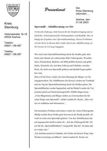Sperrmüll – Abfallberatung vor Ort - Kreis Steinburg